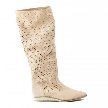 cizme de vara, cizme perforate, cizme primavara, cizme piele naturala, incaltaminte piele naturala dama, cizme bej vara,