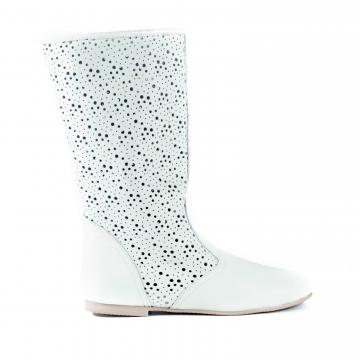 cizme de vara, cizme perforate, cizme primavara, cizme piele naturala, incaltaminte piele naturala dama, cizme albe,