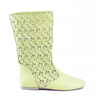cizme de vara, cizme perforate, cizme primavara, cizme piele naturala, incaltaminte piele naturala dama, cizme nude, cizme vara vernil, cizme primavara verzi, cizme verzi