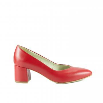 pantofi pumps piele naturala, incaltaminte piele naturala, incaltaminte dama, pantofi cu toc, pantofi bucuresti, pantofi rosii