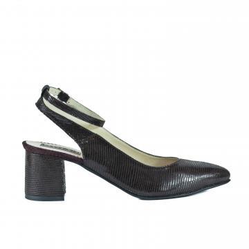 pantofi pumps piele naturala, incaltaminte piele naturala, incaltaminte dama, pantofi cu toc, pantofi eleganti, pantofi stralucitori, pantofi speciali, pantofi maro, pantofi wenge