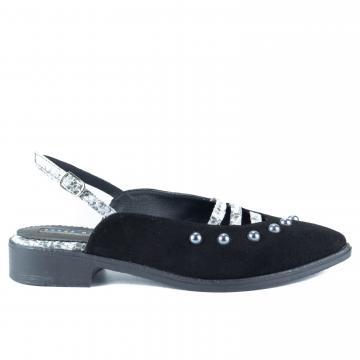 pantofi slingback, pantofi cu perle, pantofi piele, pantofi piele naturala, pantofi galbeni, pantofi piele intoarsa, pantofi la comanda, pantofi comozi, balerini slingback,