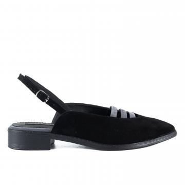pantofi slingback, pantofi decupati la spate, pantofi piele, pantofi piele naturala, pantofi negri, pantofi piele intoarsa, pantofi la comanda, pantofi comozi, balerini slingback,