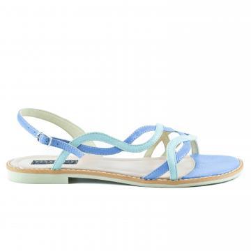 sandale flat, sandale talpa joasa, sandale piele, sandale piele naturala, sandale la comanda, sandale dama, sandale albastre, sandale bleu
