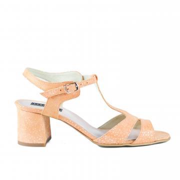sandale elegante, sandale cu toc, sandale piele, sandale piele naturala, sandale la comanda, sandale dama, sandale somon, sandale portocalii