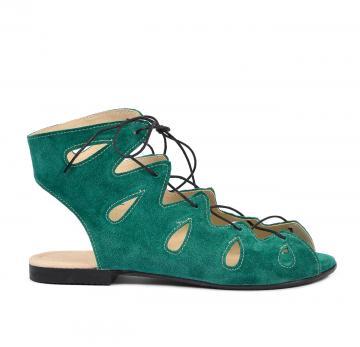 sandale gladiator, sandale flat, sandale talpa joasa, sandale piele, sandale piele naturala, sandale la comanda, sandale dama, sandale verzi