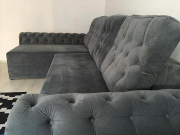 Coltar brate si perne Chesterfield