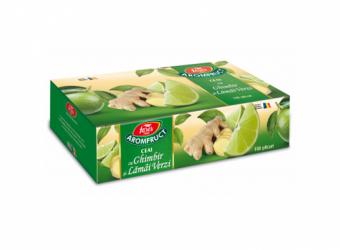 Aromfruct ceai cu ghimbir și lămâi verzi, 100 plicuri