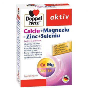 Calciu  Magneziu  Zinc  Seleniu, 30 comprimate