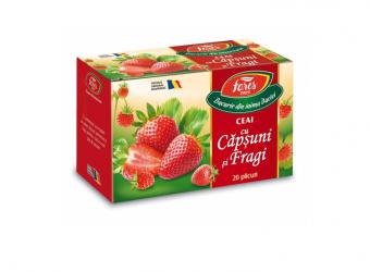Ceai cu căpșuni și fragi, la plic