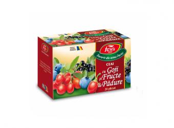 Ceai cu goji și fructe de pădure, la plic