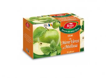 Ceai cu Mere Verzi și Melissa 20 plicuri