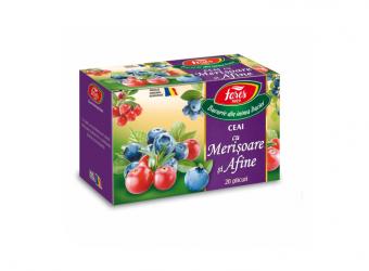 Ceai cu merișoare și afine, la plic