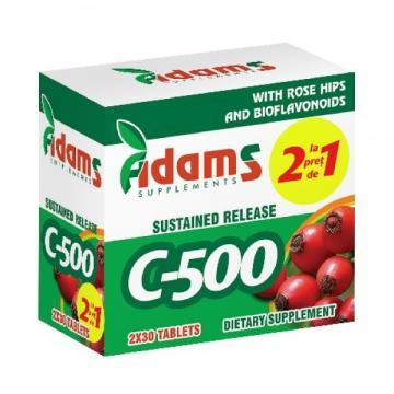 Complex De Vitamina C-500 mg 2x30 tablete, Adams