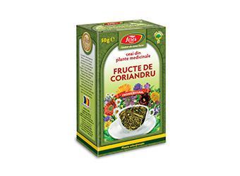 Coriandru, fructe, ceai la pungă