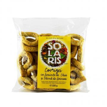 Covrigei faina integrala cu seminte de chia si faina de quinoa Solaris
