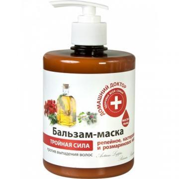 DOCTORUL CASEI Balsam-masca impotriva caderii parului cu uleiuri de brusture, ricin si rozmarin