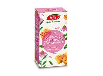 Echinacea cu propolis și vitamina C F170, 63cpr masticabile