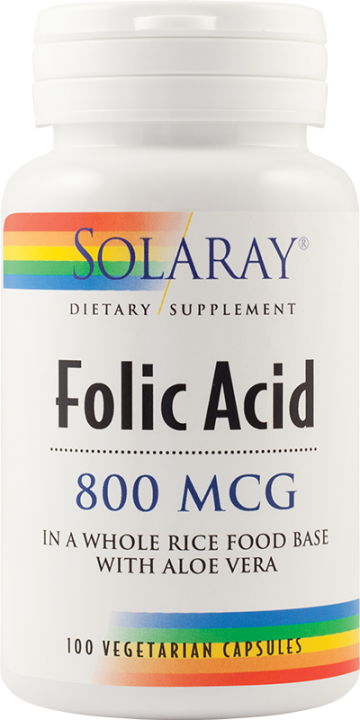 Folic Acid 800mcg  100 cps Vegetale