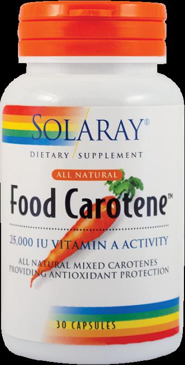 Food Carotene™ 25000UI  30 cps