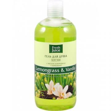 FRESH JUICE Gel de dus cu ulei de lemongrass, vitamine si vanilie