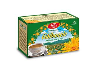 Gălbenele, ceai la plic