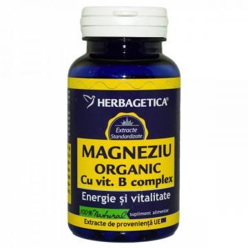 Magneziu Organic Cu Vit.B Complex 60 cps