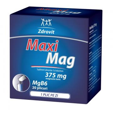 MaxiMag 375 mg 20 plicuri