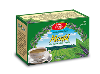 Mentă, ceai la plic