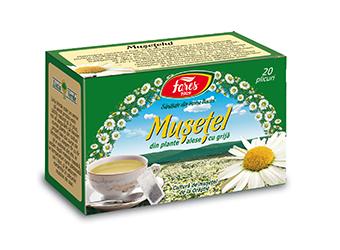 Mușețel, ceai la plic