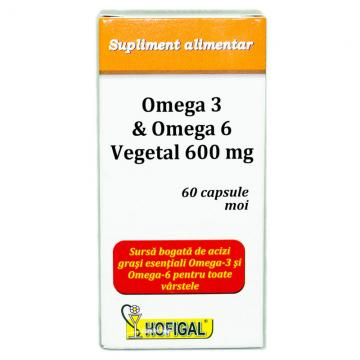 Omega&Omega 6 Vegetal 600mg   60 cps moi