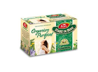 Organism purificat (detoxifiant), ceai la plic