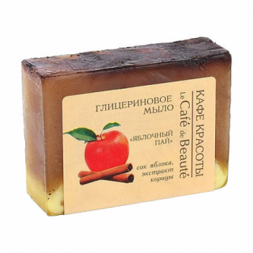 Sapun cu glicerina, suc de mere si extract de scortisoara
