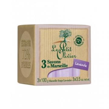 Sapun  de Marsilia extra pur 72% ulei de masline+extract de lavanda