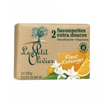 Sapun vegetal cu extract de flori de portocal 2x 100gr