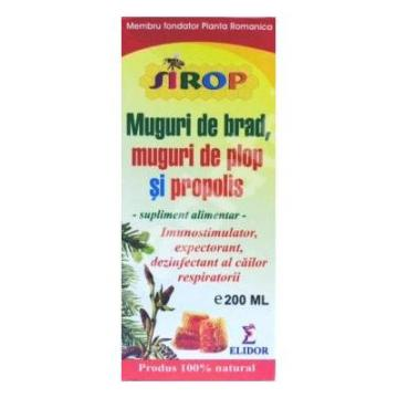 Sirop Patlagina,Muguri De Brad Si Propolis 200 ml