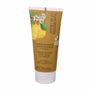 Souffle-crema corporala vitaminizanta cu suc de pere