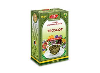 Troscot, iarbă, ceai la pungă