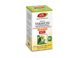 Vermicin (antiparazitar) cu miere şi propolis, D73, sirop