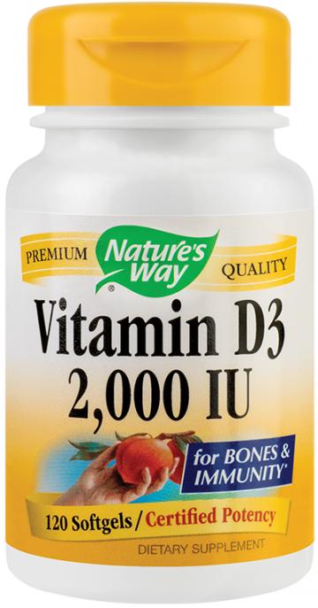 Vitamin D3 2000UI   30cps moi