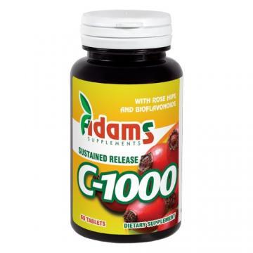 Vitamina C 1000 mg 60 tb, Adams