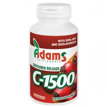 Vitamina C 1500 mg, 90 tablete, Adams