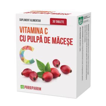 Vitamina C Cu Pulpa De Macese 30 tb
