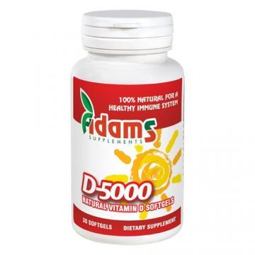 Vitamina D 5000 mg, 30 cps*, Adams
